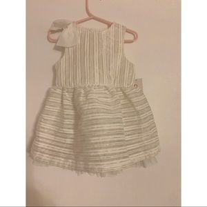 Baby Cat & Jack White & Gold 18m Party Dress
